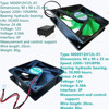 Adaptedto 9025 DC 12V 0.3A 2/3-Pin PWM Computer Cooling Fan MD0912H12L-01 90*90*25mm Sp 24 dB.: 2200+10%RPM