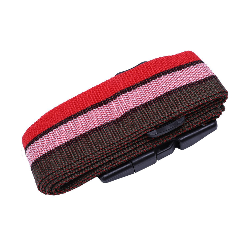 NEW-Safety Belt Belt Lock Combination Travel Luggage Suitcase Band Color:Red