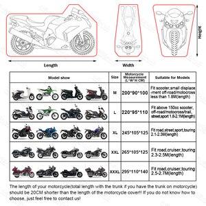 Image 2 - 190T Nero Blu di Disegno Impermeabile Moto Coperture Motori Polvere Pioggia Neve UV Della Copertura Della Protezione Indoor Outdoor M L XL XXL XXXL D35