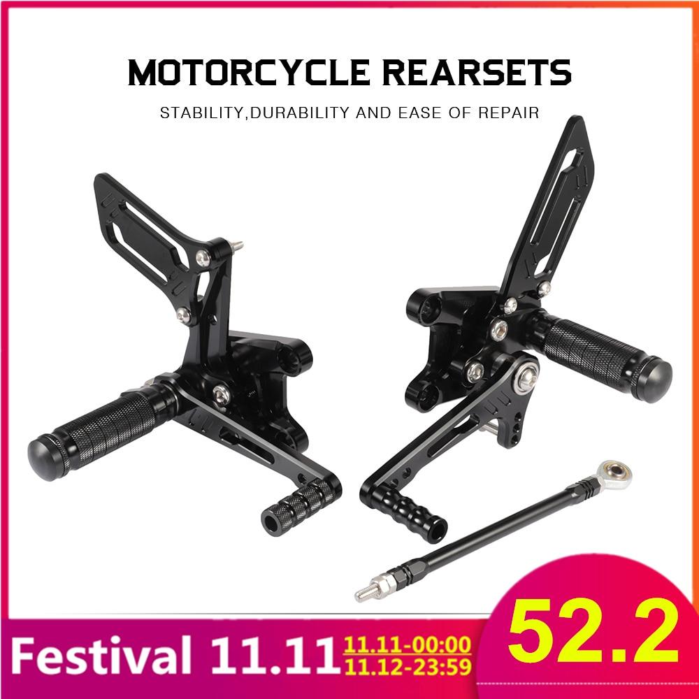 GSXR1000 GSXR600 K1 2000-2004 GSXR750 SV650S 1999-2012 Motorcycle Footrests Alloy Rearset Rear Footpeg Foot Rests For Suzuki