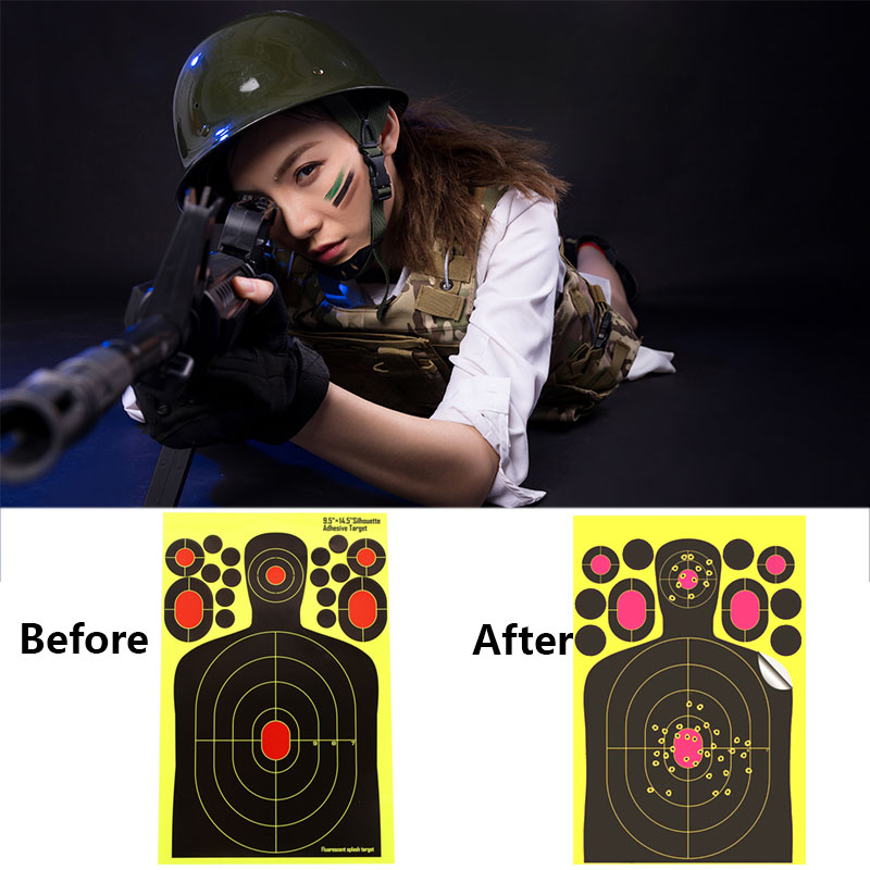 1pcs/5pcs Paper Target Stickers Archery Hunter Shooting Target Practice Yellow Outdoor Paper Target Training Hunting Bow Rifle