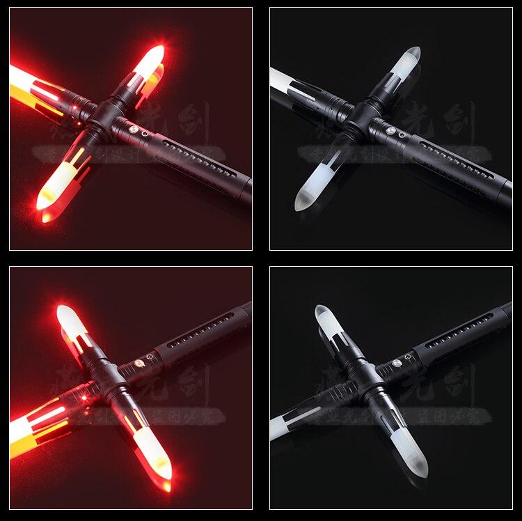Sabre lumineux épée bâton Force lourd duel Led sabre laser avec Foc verrouiller en métal poignée Blaster son enfants cadeau - 5