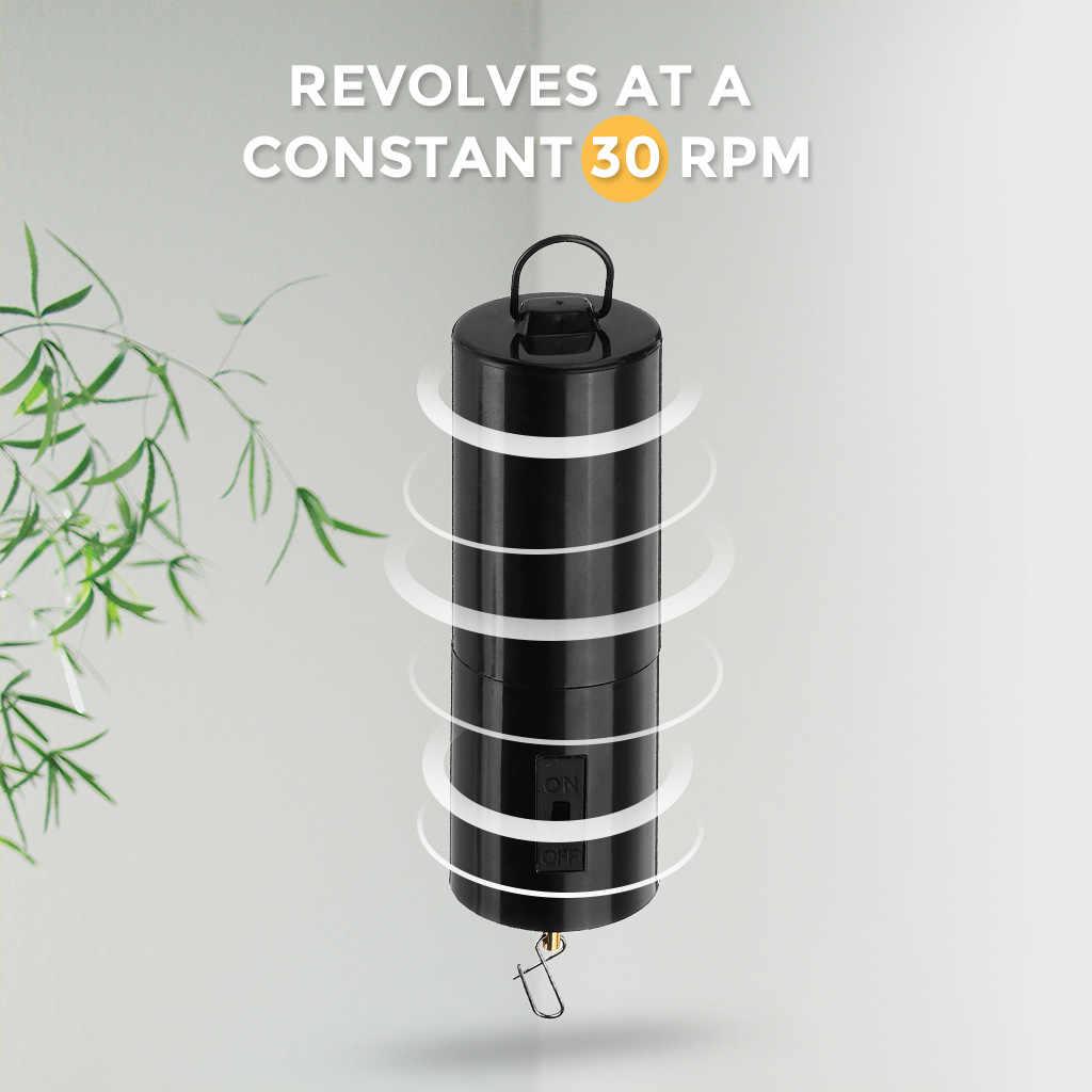 4Pcs רוח ספינר מנוע סוללה מופעל, Windspinner נייד רוח פעמון רוח פעמון קולב עבור גן דשא פאטיו דקור