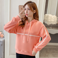 2019 New Full Sleeve Loose Add Wool Who S Bf Languid Is Lazy Wind Blouse Shirt Orange Green Apricot 2177