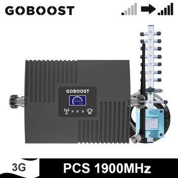 GOBOOST 3g Repeater Band 2 Single Band Signal Booster 1900 MHz Mobile Phone Amplifier 4g Antenna And 10M Coaxial Cable Kit
