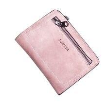 Carteira feminina curta porta-moedas, porta-cartões bolsa para