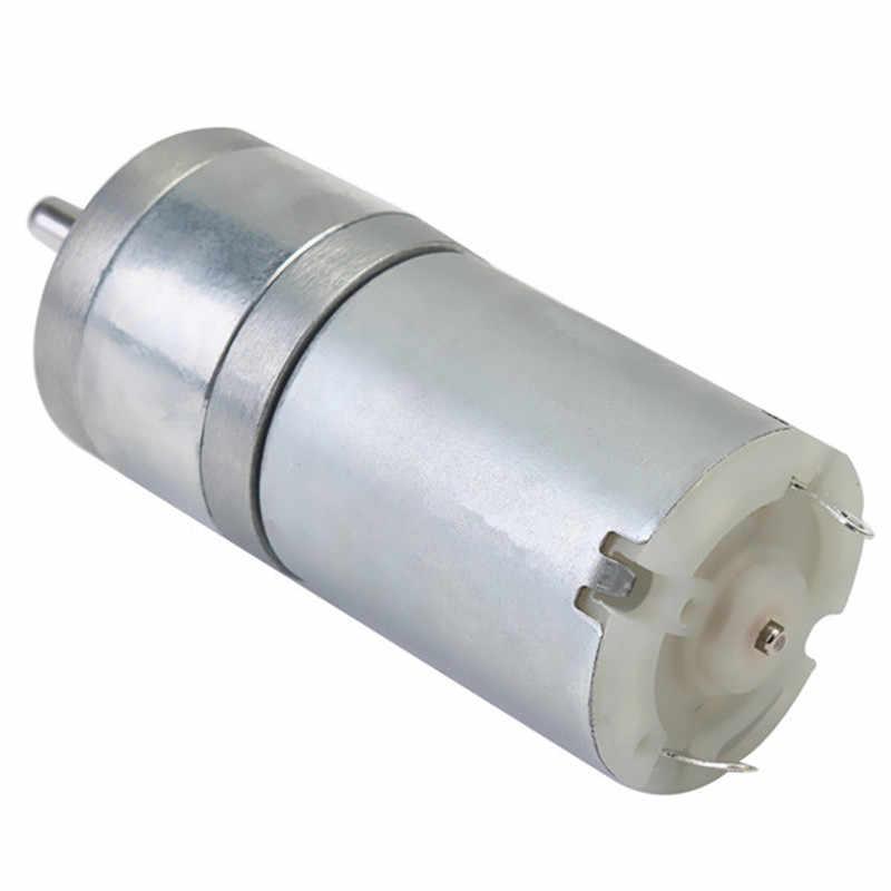 1pc elétrica caixa de engrenagens motor 12 v dc 1000 rpm 4mm eixo alto torque mini elétrico engrenado caixa metal liga motores 25x70mm