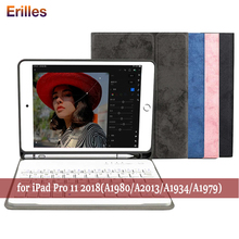 Bluetooth Keyboard Case for iPad pro 11 inch Heavy Duty Shockproof PU Leather 2018 A1979 A1980 A2013 A1934