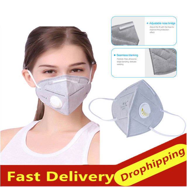 10 Pcs Fast Delivery Dustproof Anti-fog Non-woven And Breathable KN95 Face Masks Disposable Mask 95% Filtration