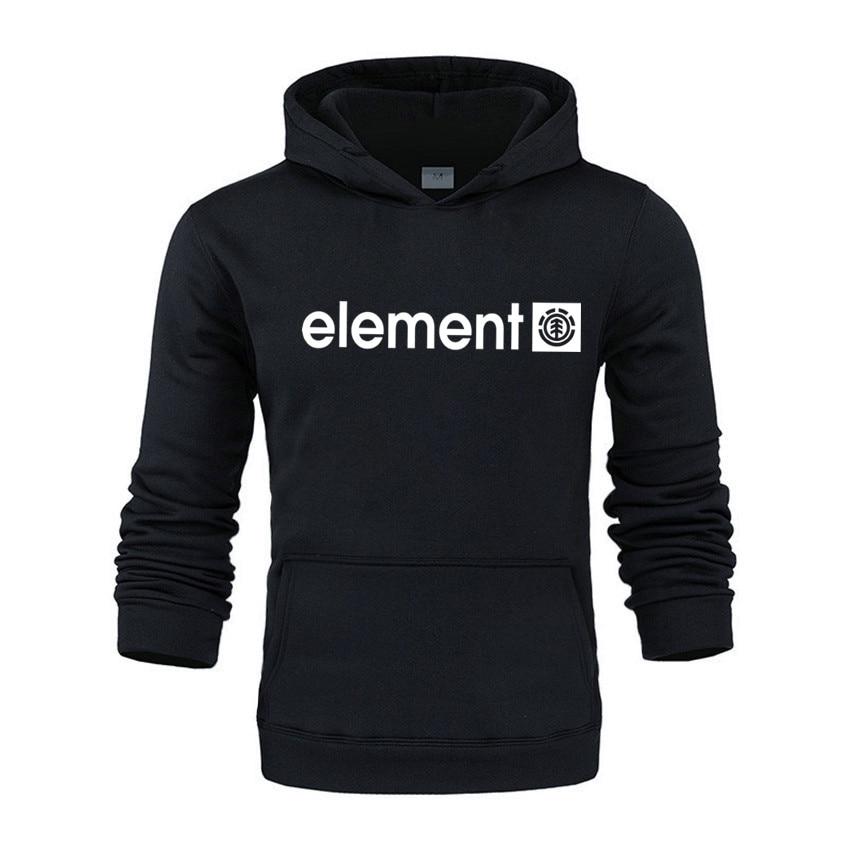 New 2020 Autumn Winter Brand Mens Hoodies Sweatshirts Men High Quality ELEMENT Letter Printing Long Sleeve Fashion Men's Hoodies