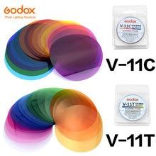 Godox V 11C V11C of V 11T V11T Kleur Filters voor AK R16 of AK R1 Compatibel Godox V1 Serie Speedlite Flash
