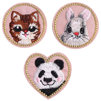 Cute Cat Iron On Patches for Clothing of The Breach Embroidery Applique DIY Hat Jeans Jacket Pants Accessories Cloth Sticker