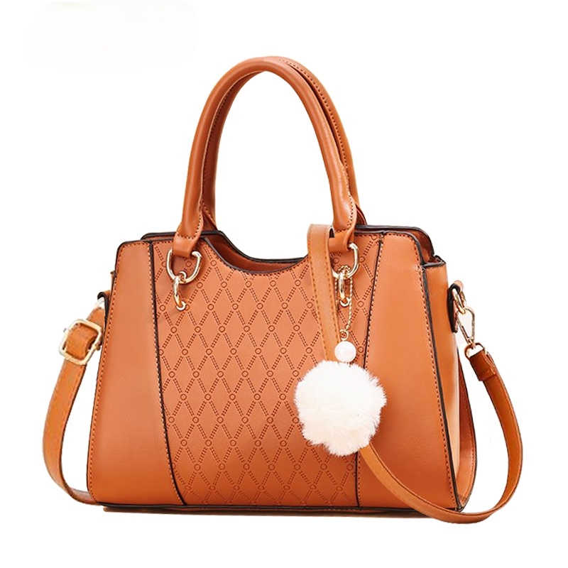 Западной Стиль с маленькими пушистыми помпончиками для подвесные сумки через плечо сумки на ремне для женщин сумки высокого качества одноцветное Цвет из искусственной кожи женские вечерние сумки из натуральной кожи