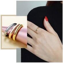 Минималистичные простые обручальные кольца 3 мм для женщин антиаллергенные