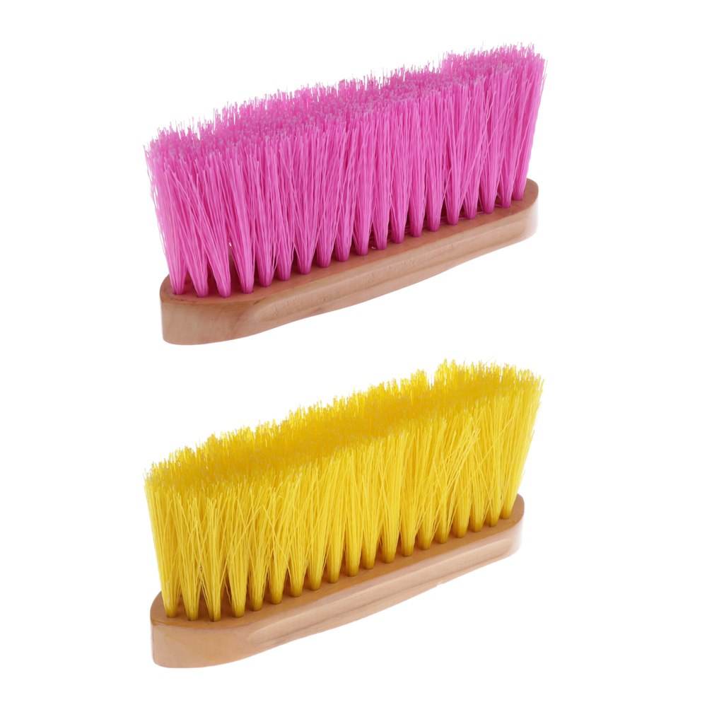 Horse Pony Brush Mane And Tail Comb With Wood Handle Equestrian Supplies