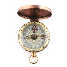 Pocket Watch Flip-Cover Survival Compass Vintage Boating Nautical Marine Metal Copper