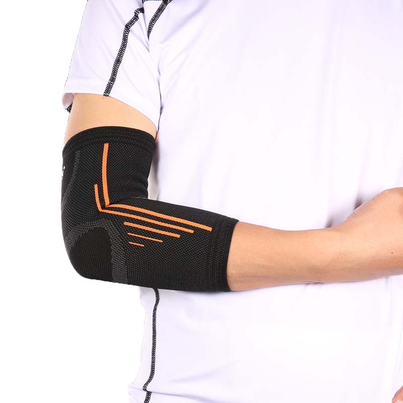 A26 Elbow Gym Support Elastic Elbow Protective Pad Breathable Sport Basketball Baseball Arm Sleeve Sports Safety Brace
