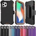 Для Iphone12 12Pro 12Mini 12Pro Max 3 в 1 резиновый Гибридный противоударный чехол с полным покрытием