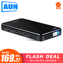 AUN MINI Projector Video-Beamer Voice-Control-Version Android-7.1 Home Cinema Portable