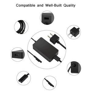 Image 4 - Adaptador de corriente para Microsoft Surface Pro 7, 3, 4, 5, 6, 15V, 4A, 65W, cargador de ordenador portátil, adaptador de corriente para enchufe de EE. UU./ru/UE