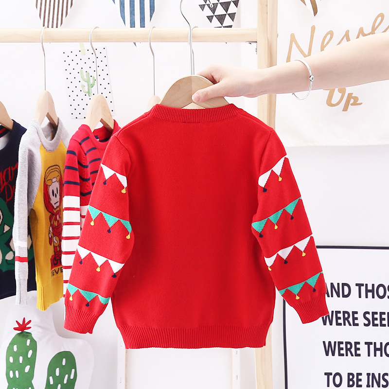 2020 Autumn Winter Christmas Kids Sweaters Knitting Pullover Baby Children Clothes Toddler Girls Fleece Soft Warm Sweater 3-10Y 3