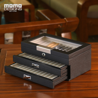 Wooden pen box 12/24/36/60pcs Pens storage box showcase Pencil Packaging display Wood box for men's gift HIGH END quality