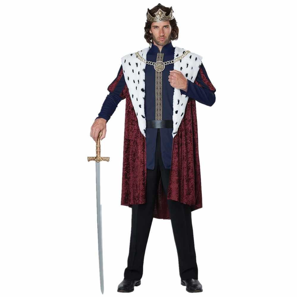 Halloween Sexy Royal Retro Paar Cosplay Kostuum Europese Hof Koning Koningin Kerst Feestjurk