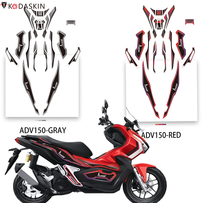Kodaskin Motorcycle 2D Fairing <font><b>Sticker</b></font> Body Full <font><b>Kits</b></font> Emblem Decoration Decal Accessories For <font><b>Honda</b></font> adv150 ADV <font><b>150</b></font> image