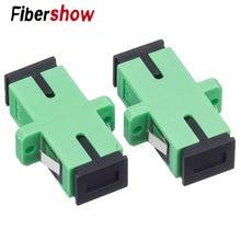 SC-SC Fiber Flange PC Connector ftth SC APC Simplex Mode Optic Adapter UPC Optical Coupler