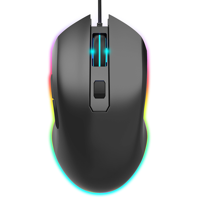 Wired Glowing Mouse Gaming Mouse USB Optical Computer Mice 7 Programmable Button DQ-Drop