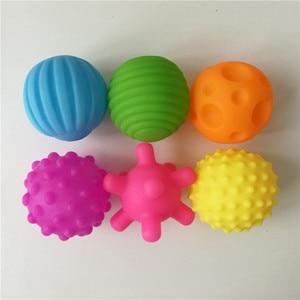 Image 2 - 1/4/6 個子供テクスチャーサウンディングボールハンドマッサージ赤ちゃんのおもちゃ触覚感覚おもちゃベビートレーニングのおもちゃ子供のため