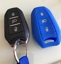 Автомобильный брелок-контроллер чехол для peugeot 208 5008 308 408 508 3008 4008 ds5 ds6 ds3 для citroen c4 c5 x7 силиконовый Смарт дистанционные брелки для ключей крыш...
