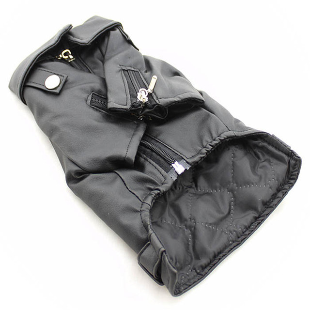 Eagle Pattern Leather Look Dog Coat 8