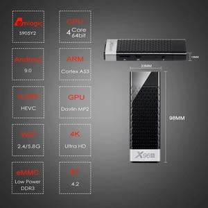 Image 2 - אנדרואיד 9.0 טלוויזיה תיבת X96S טלוויזיה מקל חכם מיני מחשב DDR3 4GB RAM Amlogic S905Y2 2.4G/5G WiFi Bluetooth 4.2 4K אנדרואיד הטלוויזיה Media Player
