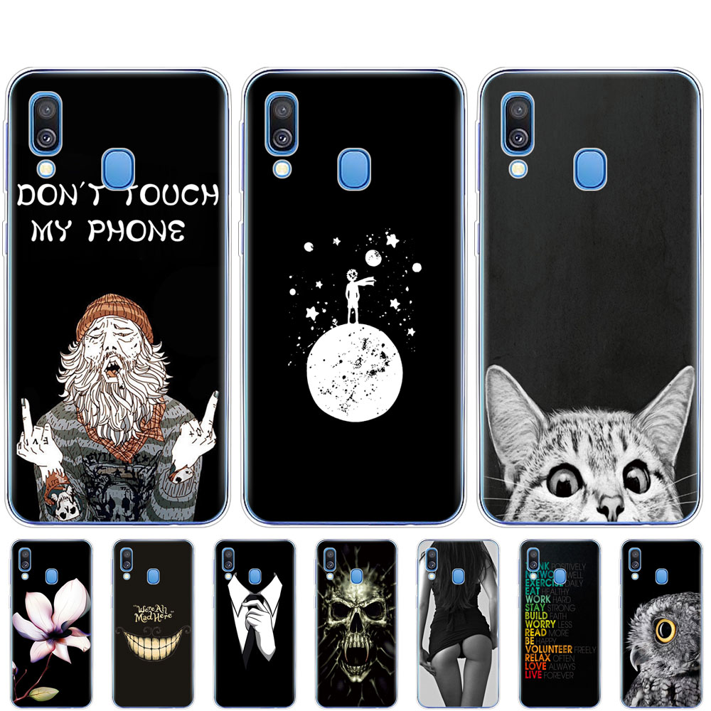 For <font><b>Samsung</b></font> <font><b>A40</b></font> <font><b>2019</b></font> Case coque Soft Silicon phone <font><b>Cover</b></font> on For <font><b>Samsung</b></font> Galaxy <font><b>A40</b></font> GalaxyA40 A 40 bumper A405 SM-A405F black image