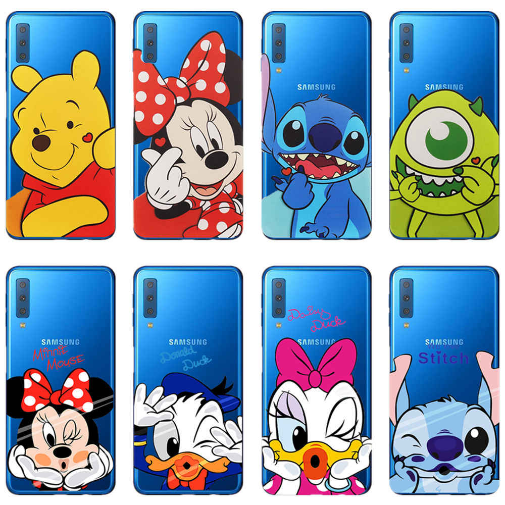 Donald Duck STIE Tsai Winnie The Pooh Lembut TPU Cover Case Telepon untuk Samsung Galaxy A72018 A30 A50 A10 J5 j7 A3 A5 A6 A7 A8Plus