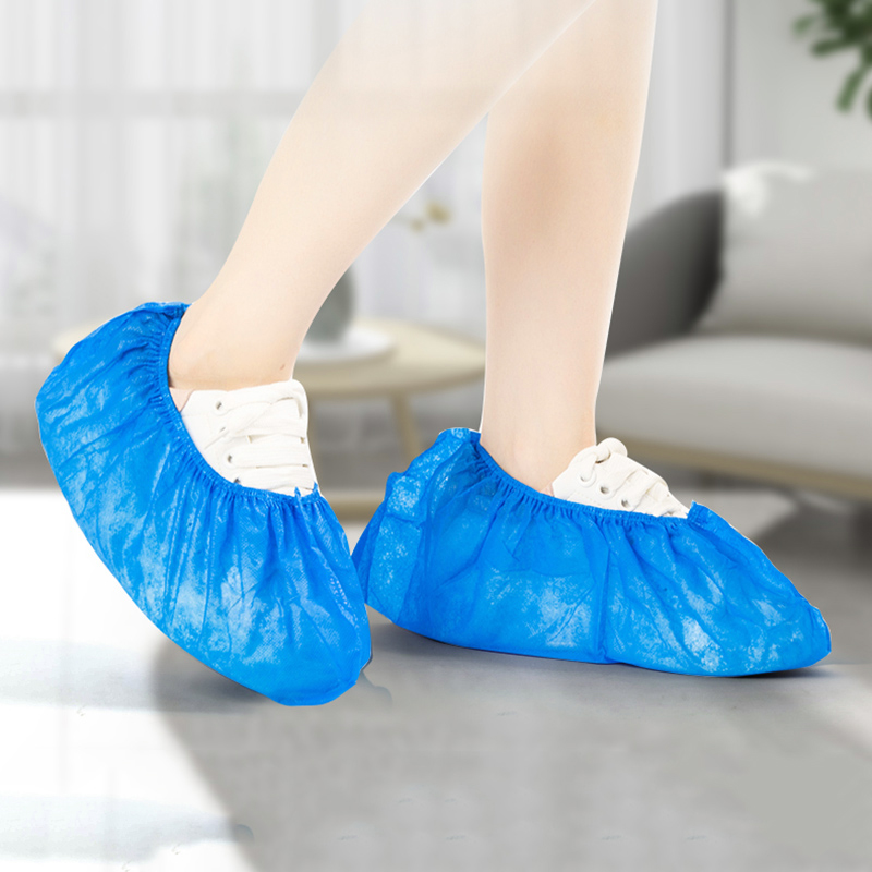 100pcs Non-woven Boot Cover Disposable Shoe Covers Thicken Overshoes Non-Slip Universal FK88