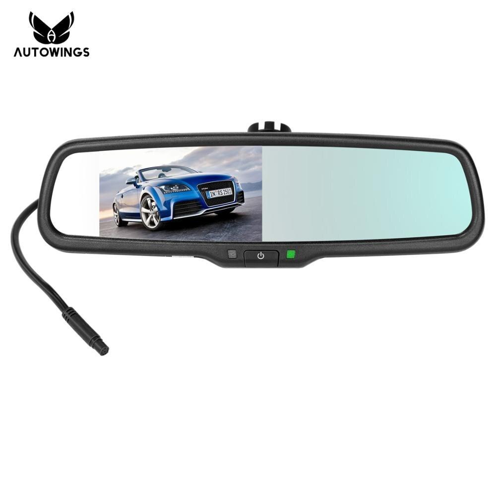 Автомобильный зеркальный монитор заднего вида с автоматическим затемнением, подходит для камеры заднего вида с 4,3 TFT lcd HD 800*480