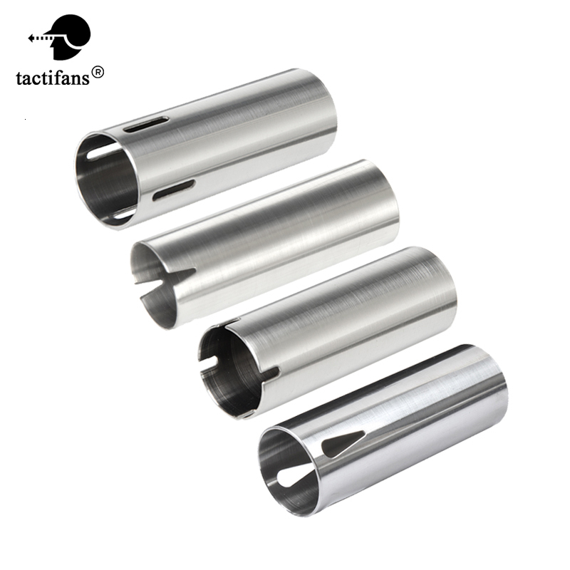 Tactifans Stainless Steel Ported Cylinder Type 1/A Smooth Inner Wall For Inner Barrel Length 363mm - 460mm Airsoft AEG Paintball