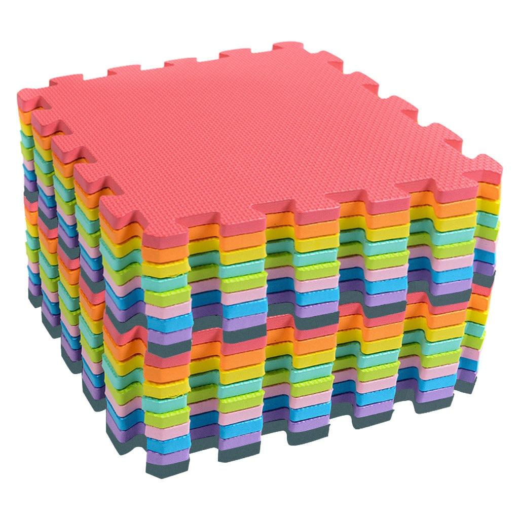 H5c02adcbb9424f2693fe184d3fe0574a2 18 PCS Baby Kids Play Mat Multi-Color Puzzle Excise Crawl Mat EVA Foam Floor Safe Playmat Childrens Puzzle Carpet Toys Gifts