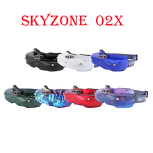 цена на SKYZONE SKY02X 5.8Ghz 48CH Diversity FPV Goggles Support 2D/3D HDMI Head Tracking & Fan DVR Front Camera For RC Racing Drone