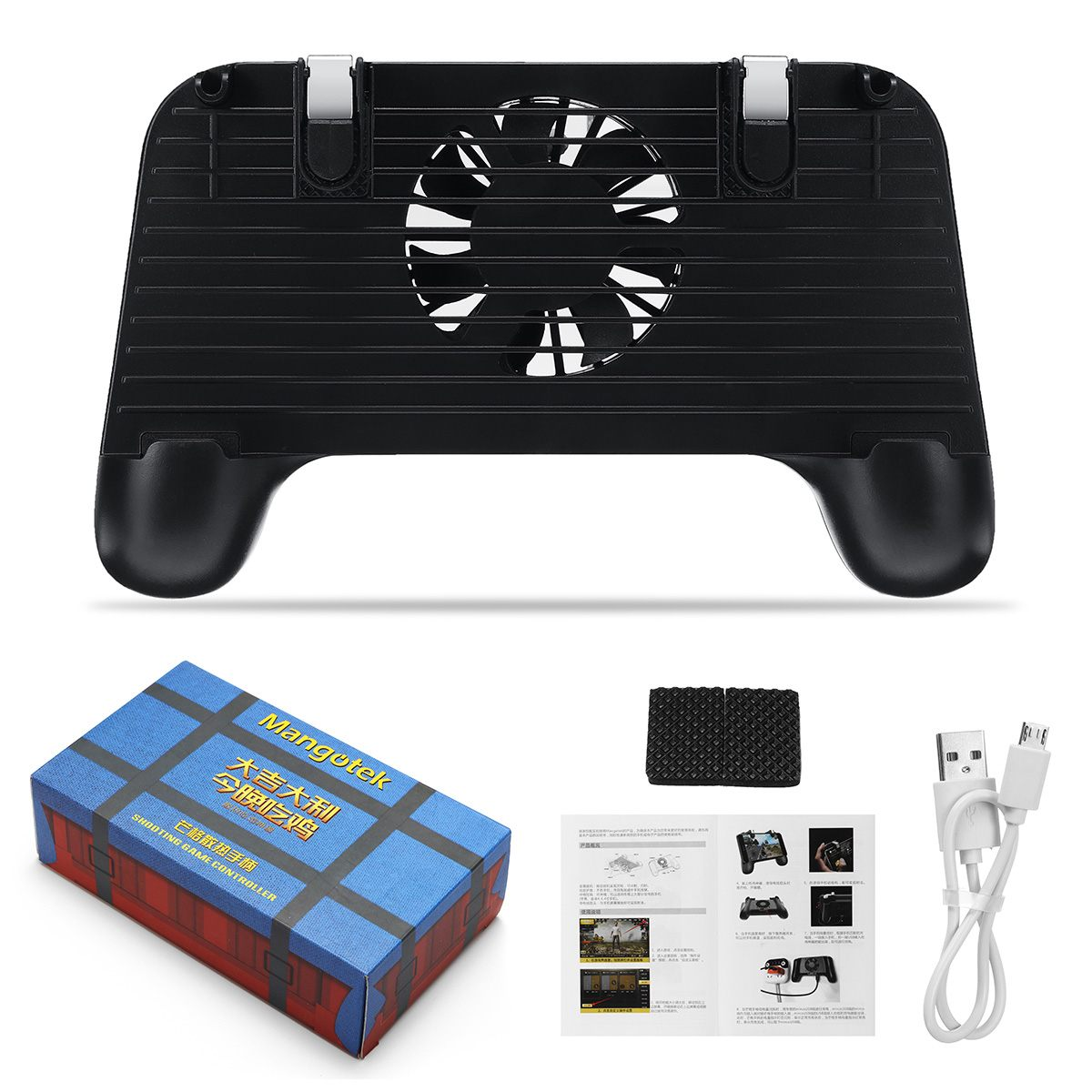 4 In 1 Cooling Fan Radiator Charging Handle Gamepad Joystick Holder Gaming Controller Power Bank for Mobile Phone For PUBG