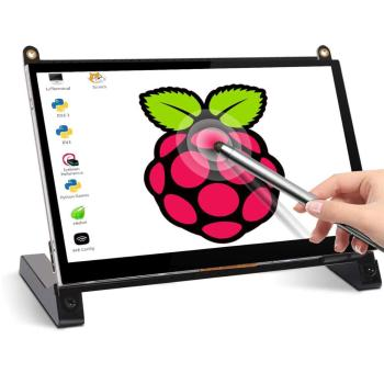 Pastall Raspberry Pi 4 Display Touchscreen 7 Inch HDMI 1024×600 USB IPS LCD Screen Display Monitor for Raspberry Pi 4 3 Model B, 7 inch hdmi tft touch screen lcd display monitor hd 1024x600 for raspberry pi 3 model b pi 4 computer tv box dvr game device