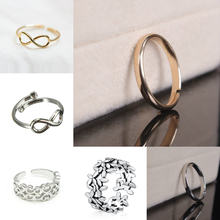 New Real Simple Design Open Adjustable Size Toe Rings Silver Gold Fashion Beach Foot Band Jewelry Gift(China)