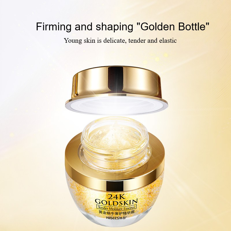 24k Gold Snail Face Cream Dry Skin Care Anti Wrinkle Brightening Collagen Anti-aging Whitening Moisturizing Creams Tslm1 Price Remains Stable