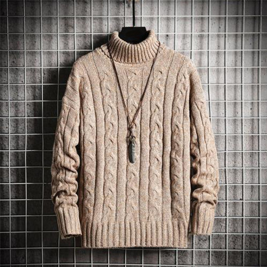 2019 New Style Hot Fashion Men's Solid Turtle Neck Pullover Knitted Jumper Tops Sweater Long Sleeve Pullovers