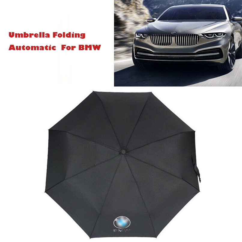 1Pcs Premium Quality Umbrella Folding Automatic Genuine Designer Brolly For BMW