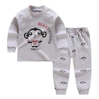 0-24M Baby Clothing Sets Autumn Baby boys Clothes Infant Cotton Girls Clothes 2pcs newborn baby Underwear Kids Clothes Set - 5, 3M