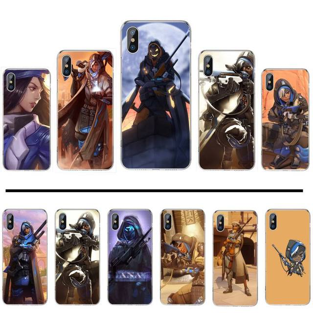 Bags Ana Overwatchs OW Character Phone Case For iphone 12 5 5s 5c se 6 6s 7 8 plus x xs xr 11 pro max