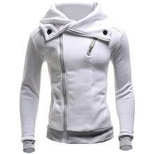 ZOGAA new casual slim thick men's coat large lapel male Sweatshirt fleece thick solid color cotton zipper decoration Sweatshirt все цены